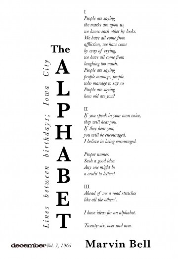 The Alphabet By Marvin Bell Architrave Press