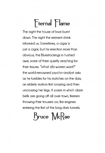 Eternal Flame By Bruce Mcrae Architrave Press