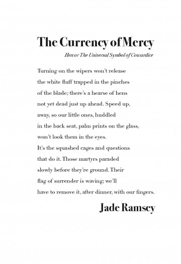 The Currency Of Mercy Hen Or By Jade Ramsey Architrave Press